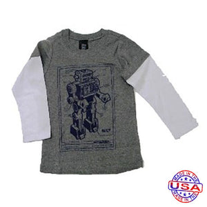 Boys' Robot Blueprint Shirt by Ragtop