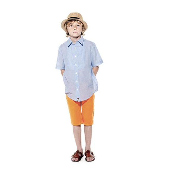 Boys' Striped Tux Shirt by La Miniatura - The Boy's Store