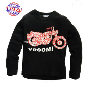 Little Boys Motorcylce Print Shirt