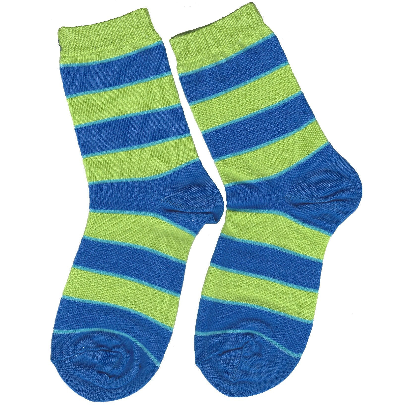 Boys Lime Striped Crew Socks by Jefferies Socks