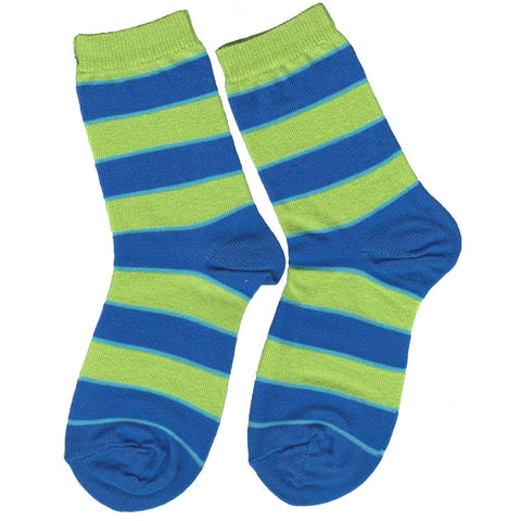 Boys Lime Striped Crew Socks by Jefferies Socks - The Boy's Store