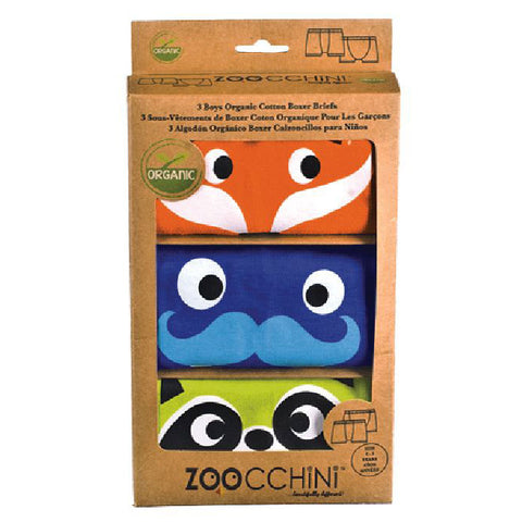 Little Boys Organic Animal Faces Boxers by Zoocchini