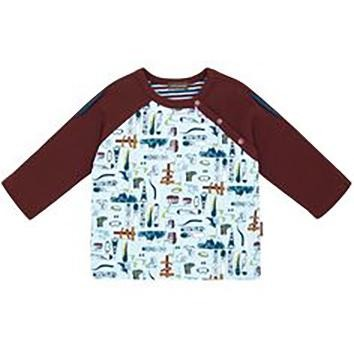 Little Boys' Altitude Raglan Sleeve Shirt by Rabbit Moon - The Boy's Store