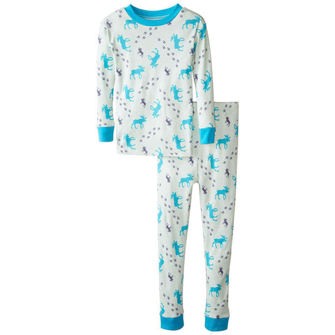 Boys Organic Cotton Moose Tracks Pajama set by New Jammies