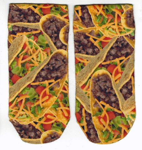 Boys Tacos No-Show Socks by Sublime Designs