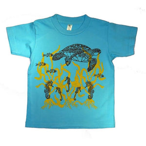 Little Boys' Turtle Shirt by Wugbug Clothing