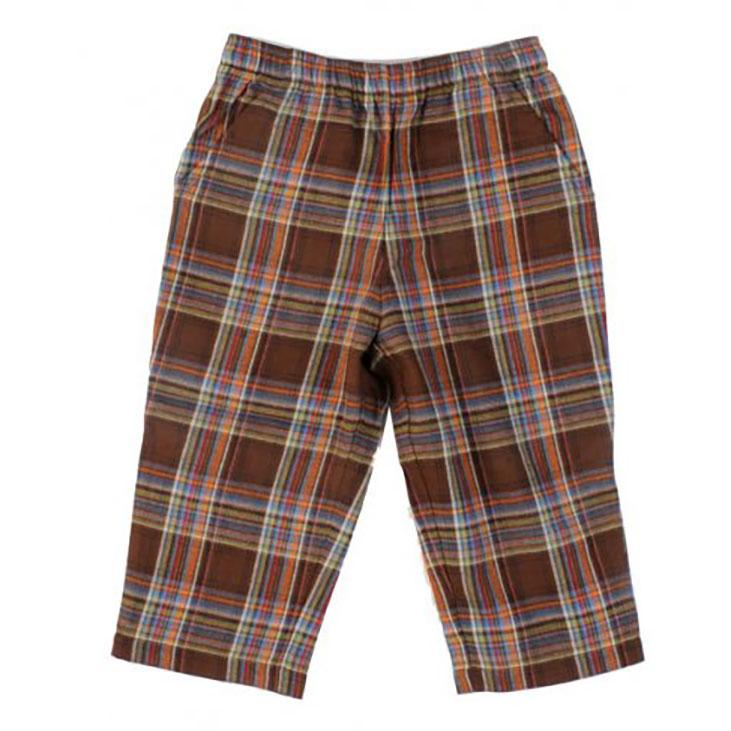 Boys' Window Pane Plaid Flannel Pants by Mulberribush