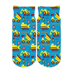 Little Boys Construction Ankle Socks by Sublime Designs