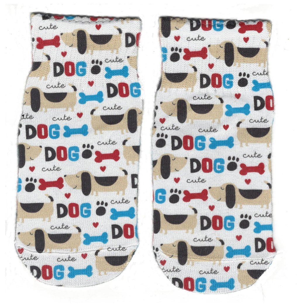 Little Boys Cute Dog Ankle Socks by Sublime Designs