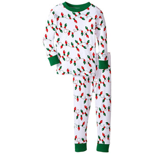 Boys Snuggly Christmas Lights Pajamas by New Jammies
