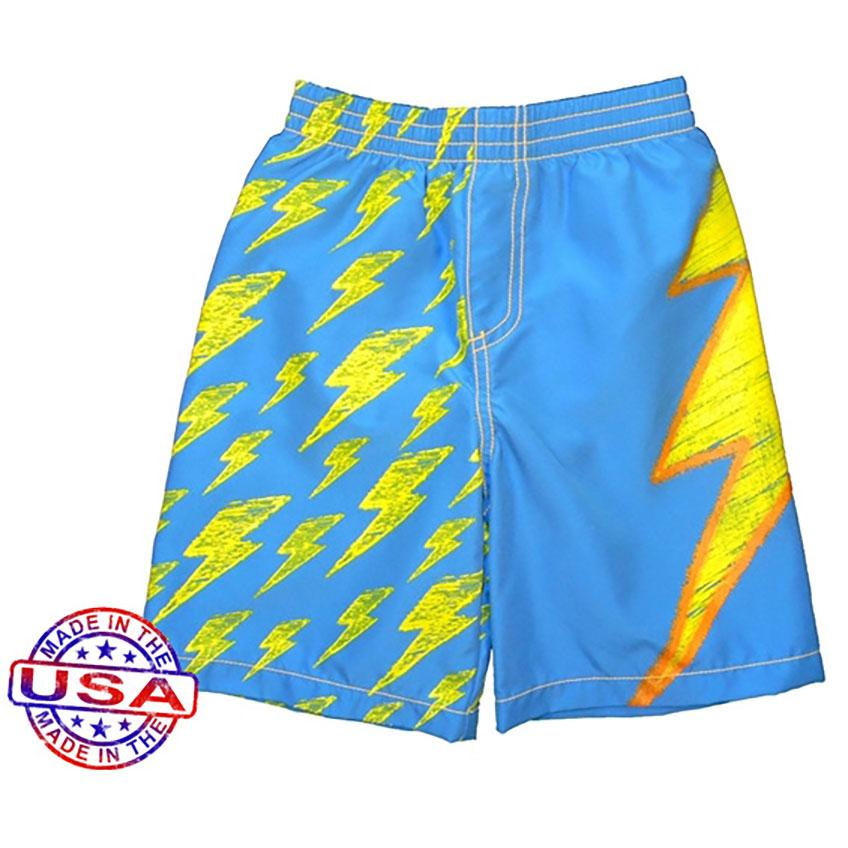 Boys' Lots O'Bolts Swim Shorts by City Threads - The Boy's Store