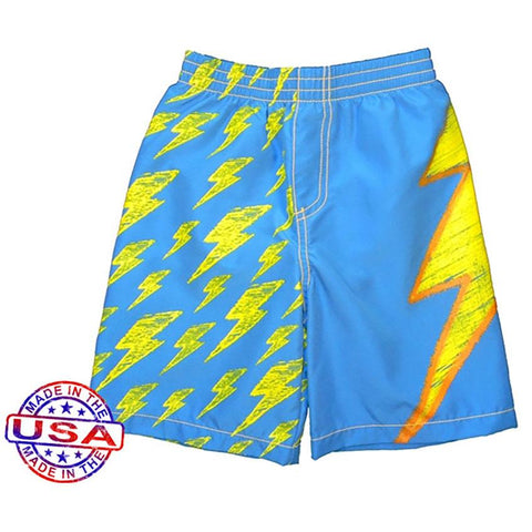 Boys' Lots O'Bolts Swim Shorts by City Threads