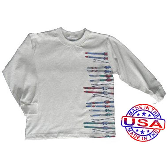Boys Old Fashion Skis Shirt by Tumbleweed
