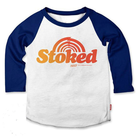 Boys Stoked Raglan Tee by Prefresh