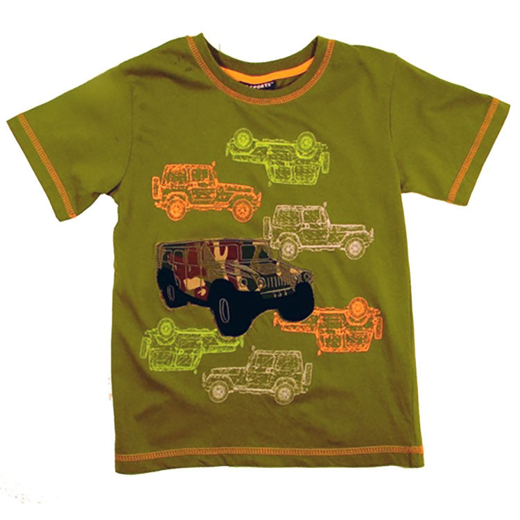 Little Boys Camouflage Jeeps Shirt by CR Sport