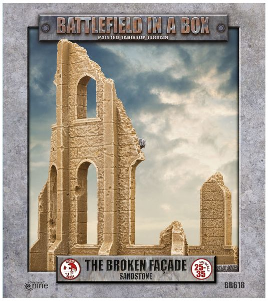 Battlefield in a Box: Gothic Battlefields - Broken Façade - Sandstone (x2) 30mm (BB618)