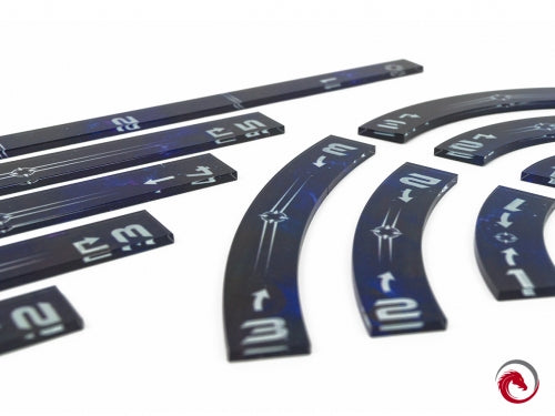 Star Wars: X-Wing - Rulers Set Upgraded (Blue) - e-Raptor