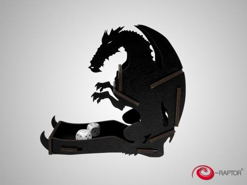Dice Tower - Dragon Black Small (e-Raptor)