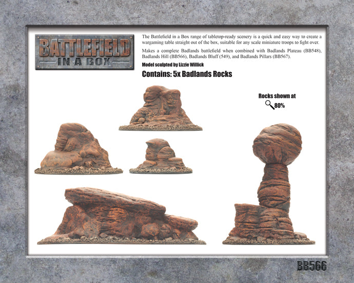 Battlefield in a Box: Badlands Tors - Mars (x5) - 30mm (BB566)