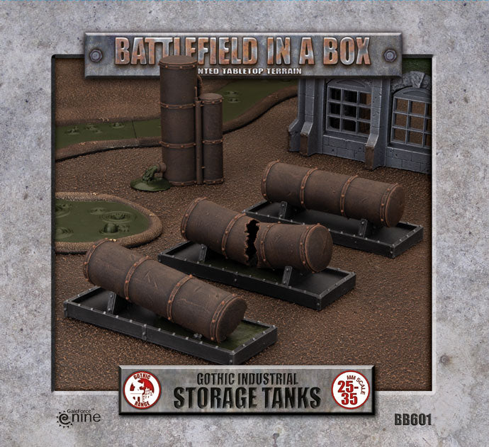Battlefield in a Box: Gothic Industrial - Tanks (x3) - 30mm (BB601)