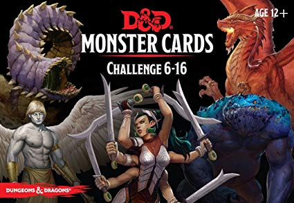 Dungeons & Dragons RPG: Monster Cards - Challenge 6-16 Deck