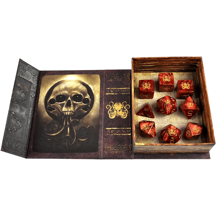 Elder Dice: Red Cthulhu Polyhedral Set