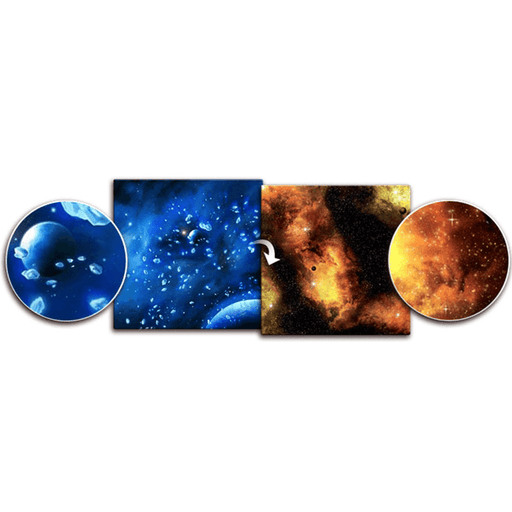 "Gaming Mat - Ice Comets / Fiery Nebula (36""x36"")"