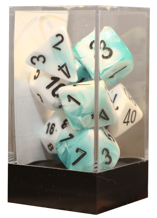 Gemini - Teal-White/black - 7-Die Set (26444) - Chessex