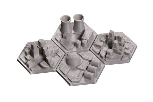 3D Space Colony Hex Tiles (4) (Broken Token) (TOK007)