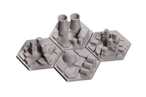 3D Space Colony Hex Tiles (4) - Broken Token