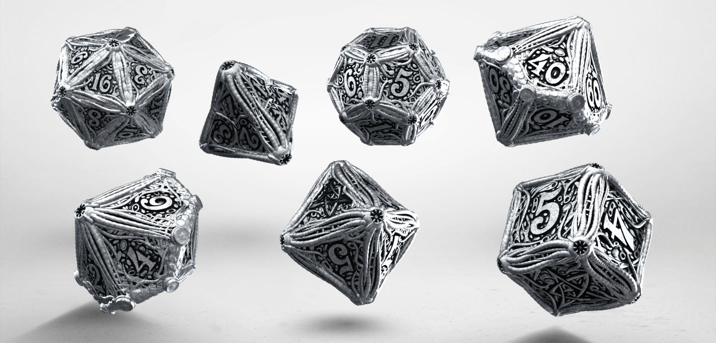 Metal Call of Cthulhu Dice Set (7) - Q-Workshop