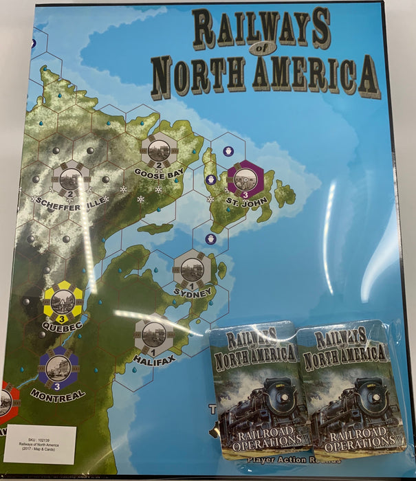 Railways of North America (2017 - Map & Cards)