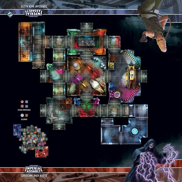 Star Wars: Imperial Assault - Skirmish Map - Coruscant Back Alleys