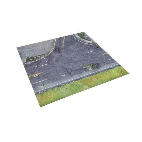 The Walking Dead: All Out War - Deluxe Gaming Mat - Atlanta Suburbs