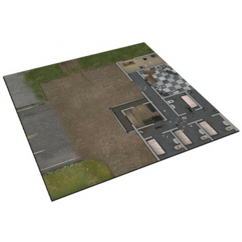 The Walking Dead: All Out War - Deluxe Gaming Mat - Prison Grounds