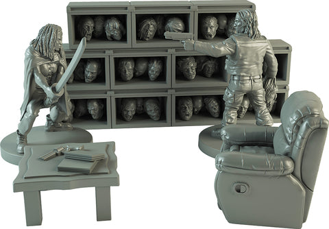 The Walking Dead: All Out War - The Governor's Trophy Room Collector's Resin Set
