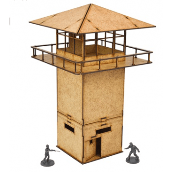 The Walking Dead: Prison Tower MDF Scenery Set
