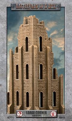 Battlefield in a Box: Gothic Battlefields - Large Corner - Sandstone (x1) - 30mm (BB613)