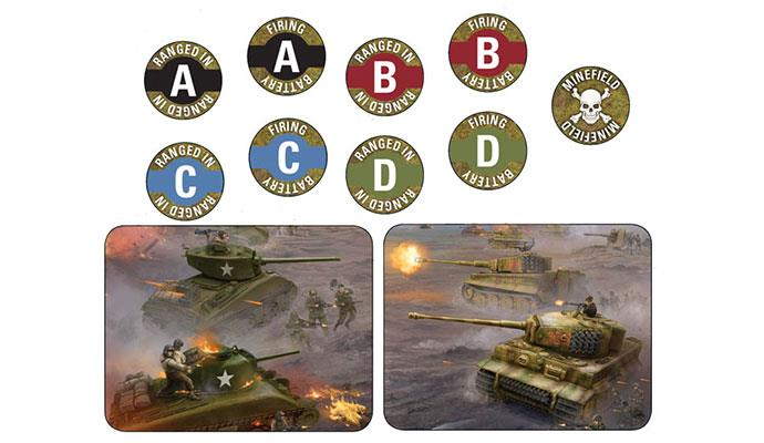 Flames of War: Late War Mission Token Set (x14) (TK103)