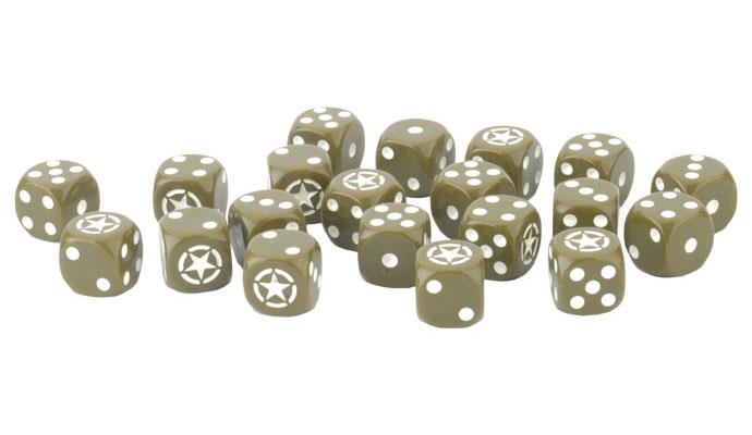 Flames of War: American LW Dice (x20) (US906)