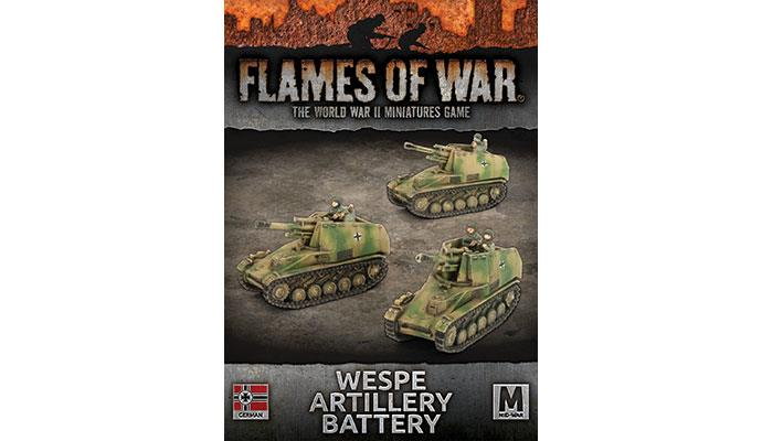 Flames of War: Wespe 10.5cm SP Artillery Battery (GBX132)