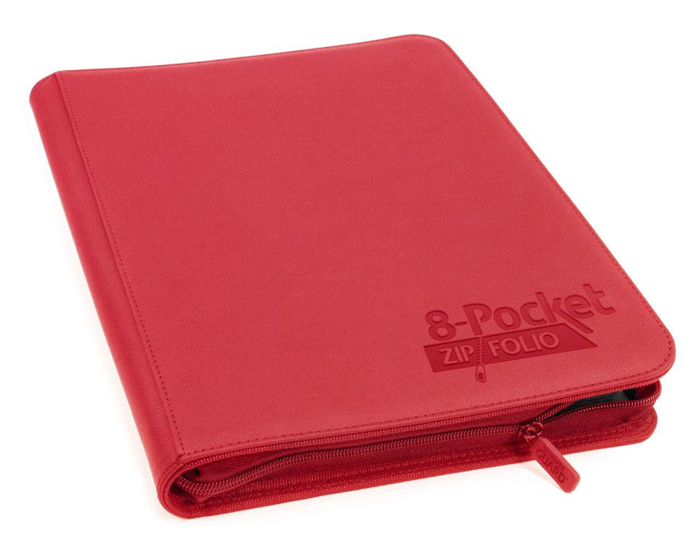 Ultimate Guard 8-Pocket ZipFolio XenoSkin - Red