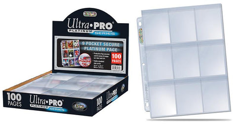 Ultra Pro 9-Pocket Secure Platinum Page Display (100 Pages)