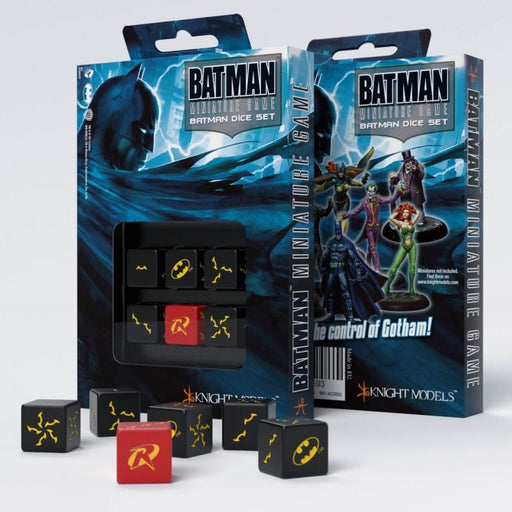 Batman Miniature Game - D6 Batman Dice Set (6) - Q-Workshop