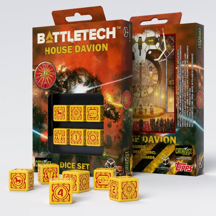 Battletech House Davion D6 Dice (6) - Q-Workshop