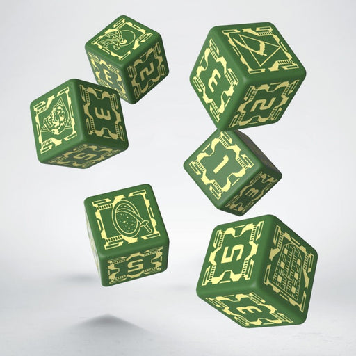 Battletech House Liao D6 Dice (6) - Q-Workshop