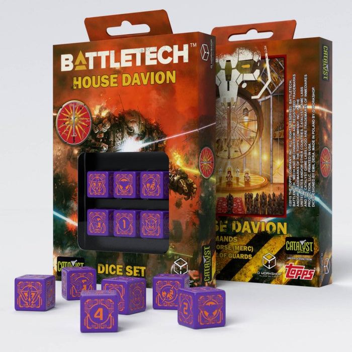 Battletech House Marik D6 Dice (6) - Q-Workshop