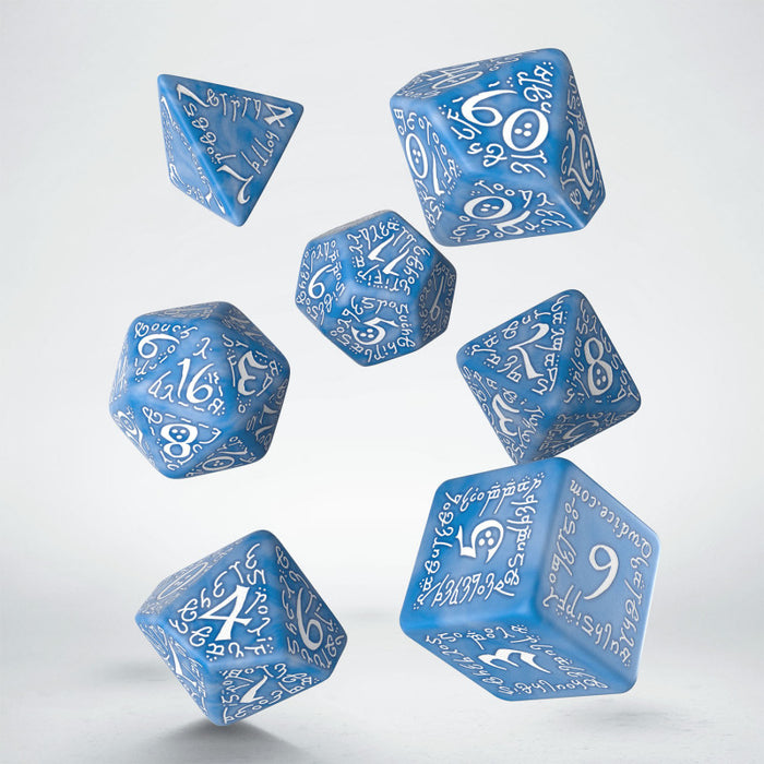 Elvish Glacier & white Dice Set (7) - Q Workshop