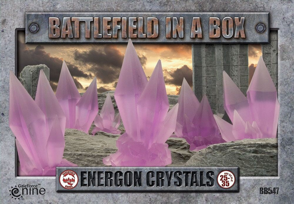 Battlefield in a Box: Energon Crystals - Purple (x6) - 30mm (BB547)