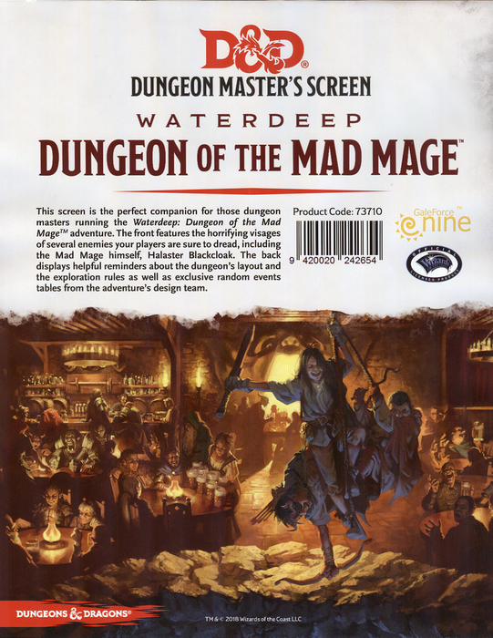 Dungeons & Dragons (5th Edition) - Dungeon Master's Screen: Waterdeep: Dungeon of the Mad Mage